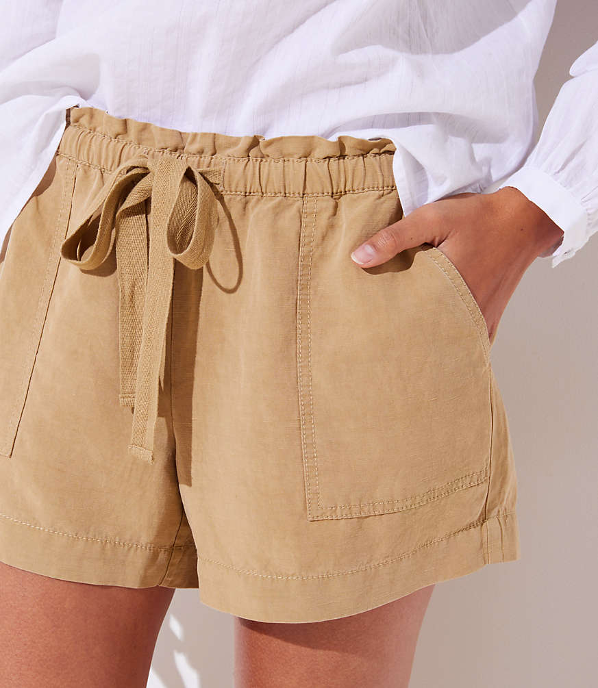Petite Tie Waist Safari Shorts