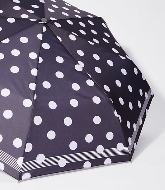 Image of LOFT Outlet Bordered Polka Dot Umbrella