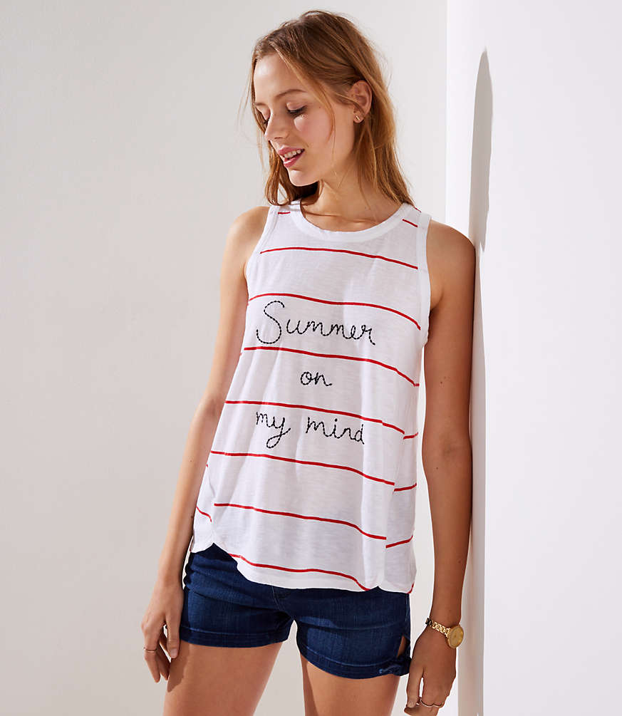 Summer On My Mind Tank by Loft