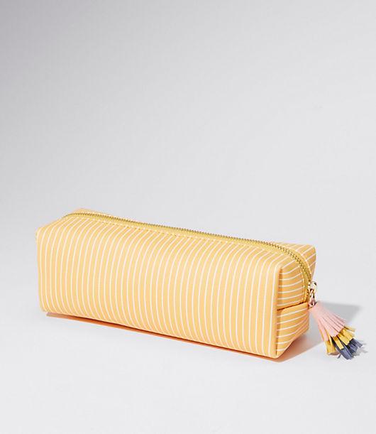 Image of LOFT Outlet Striped Makeup Bag