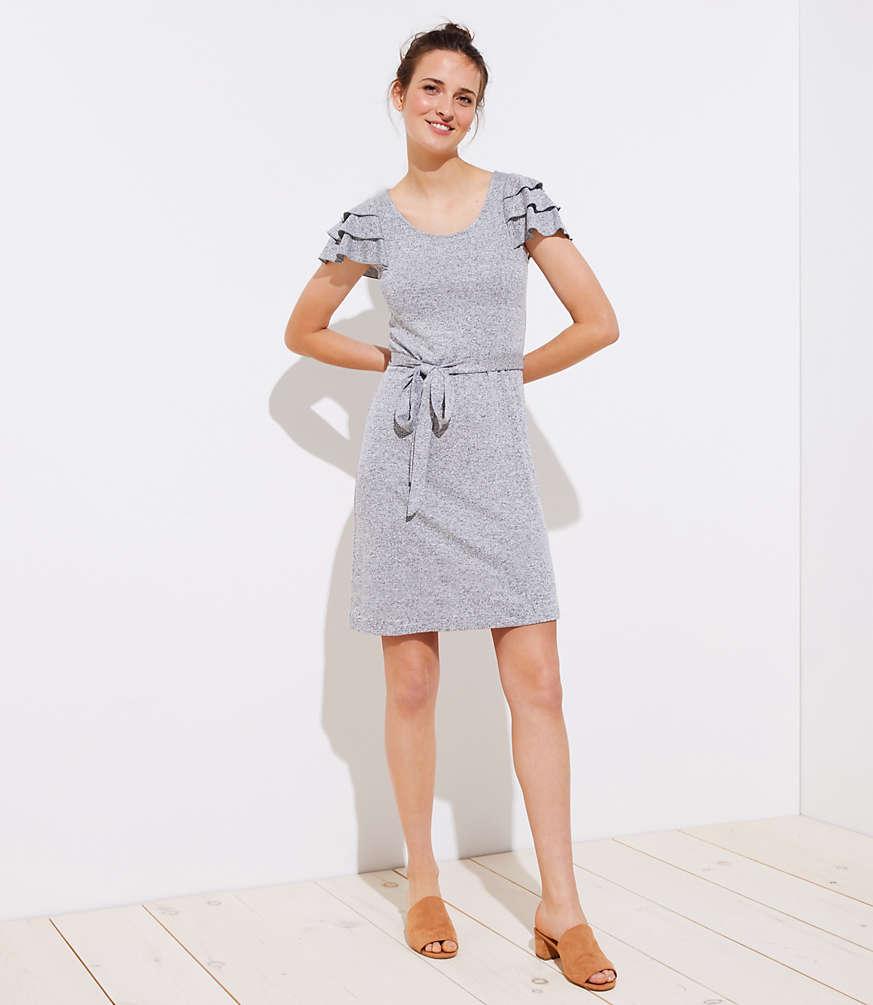 Petite Tiered Flutter Knit Dress