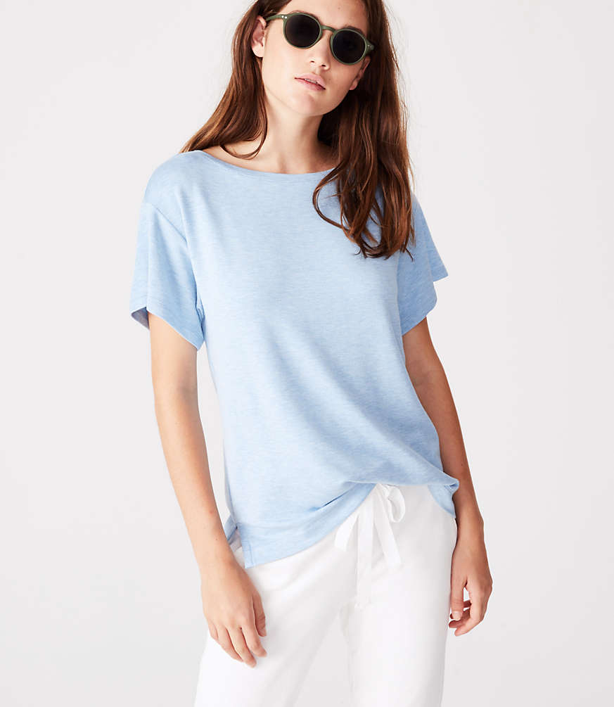 Lou & Grey Signaturesoft Boatneck Tee by Loft