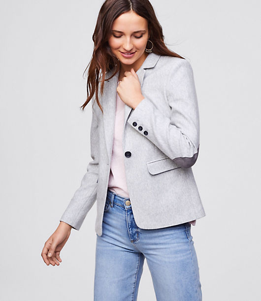 LOFT Elbow Patch Knit Blazer 24735742