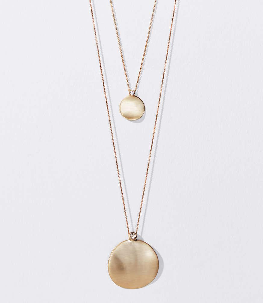 Disc pendant necklace set loft aloadofball Choice Image