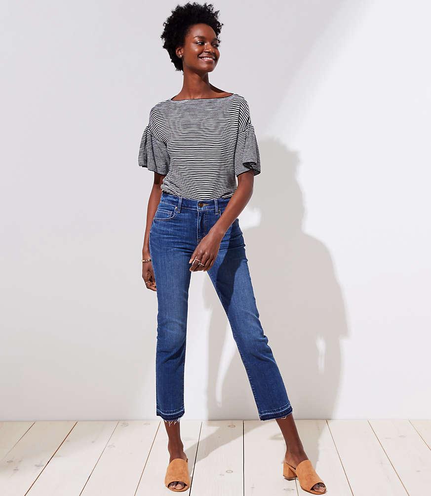 The Petite Crop Jeans in Dark Stonewash