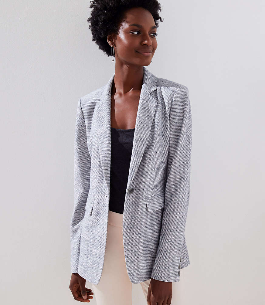 Textured Knit Blazer by Loft