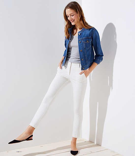 Petite Pinstripe Skinny Pants in Marisa Fit