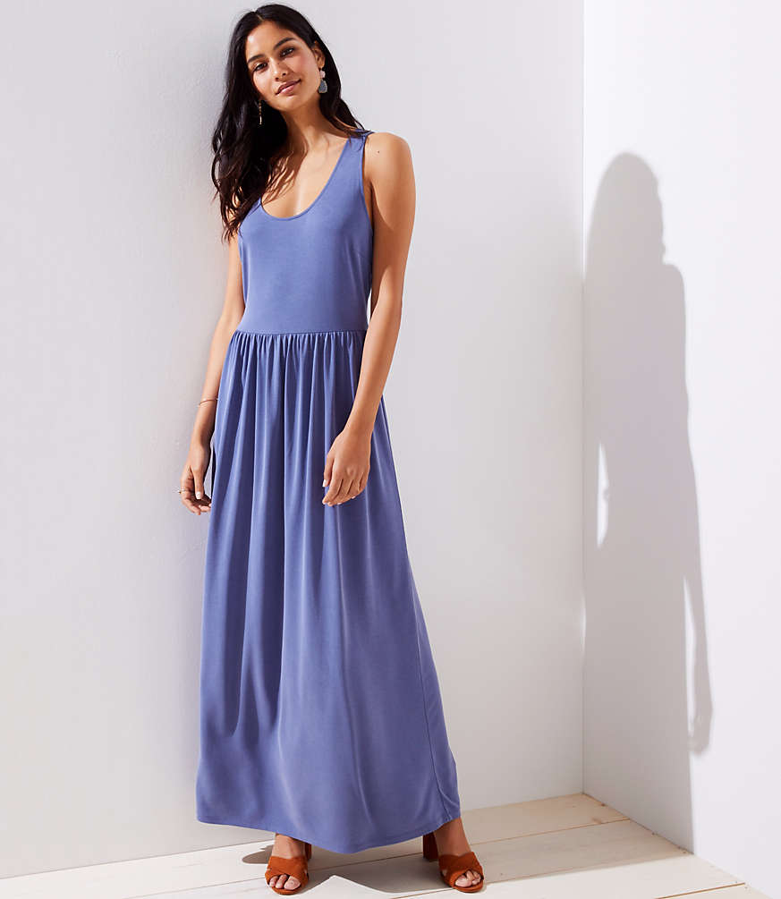 Petite Sandwashed Criss Cross Back Maxi Dress