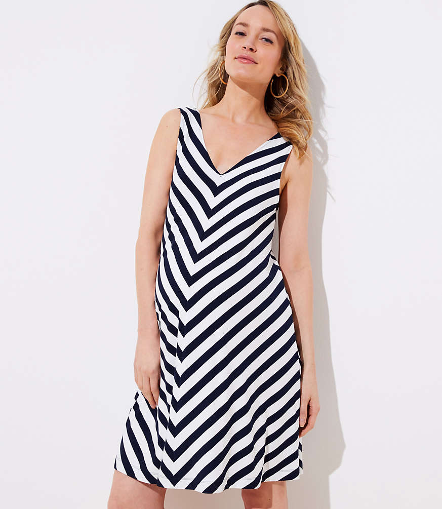 Maternity chevron sleeveless swing dress loft ombrellifo Choice Image