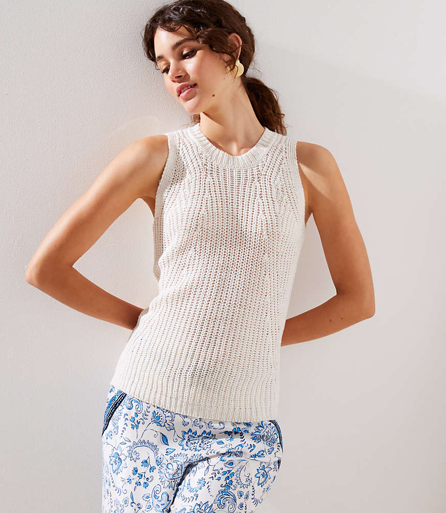 Petite Ribbed Sweater Shell