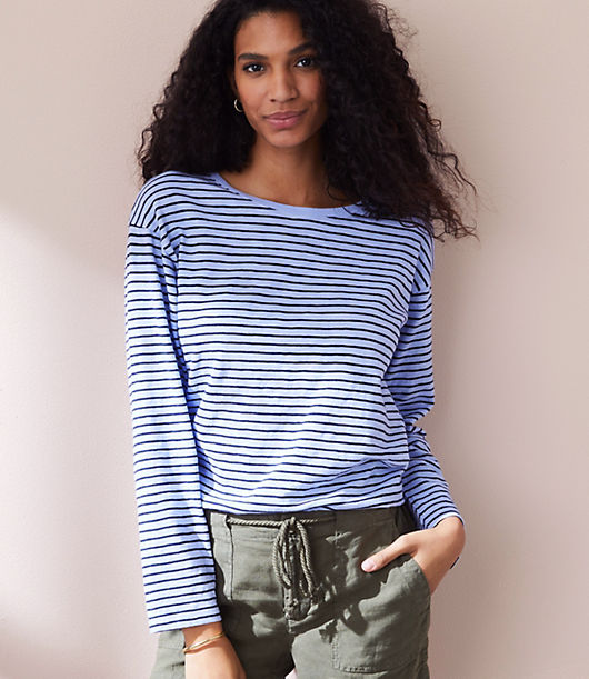 Lou & Grey Striped Long Tee 25192018