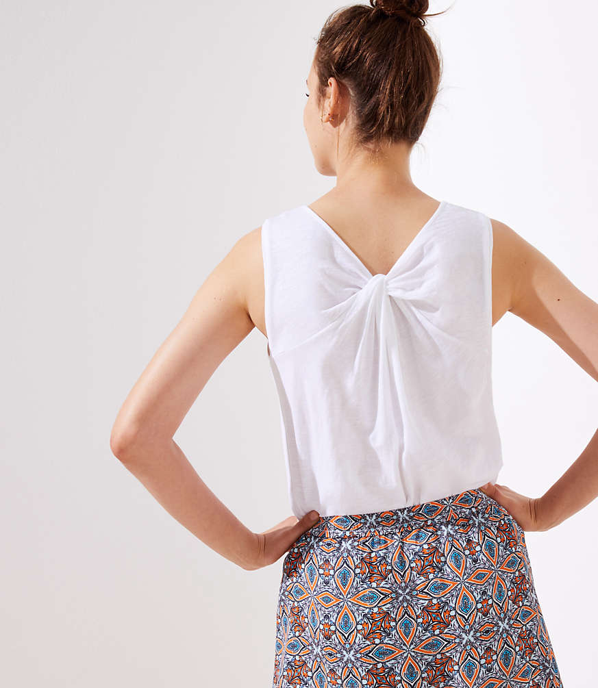 Vintage Soft Back Twist Tank by Loft