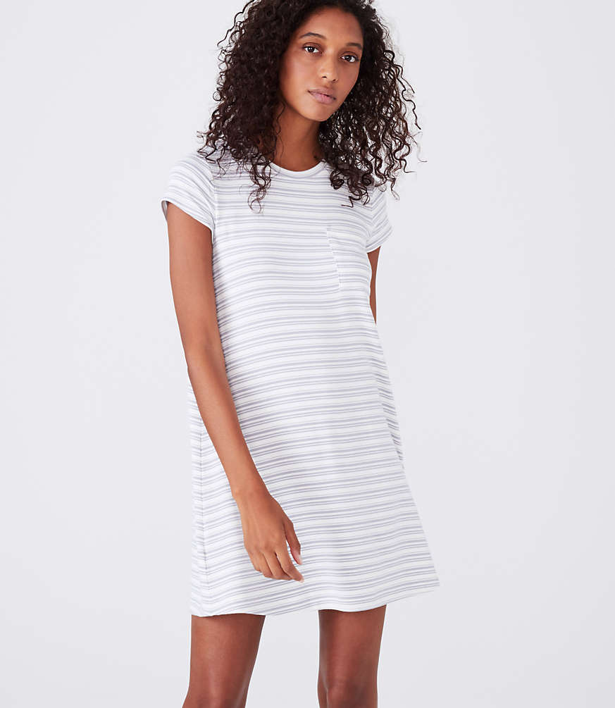 Lou & Grey Striped Signaturesoft Pocket Tee Dress by Loft