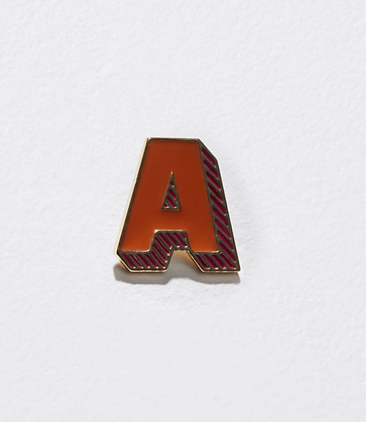 Image of LOFT Outlet Initial Enamel Pin