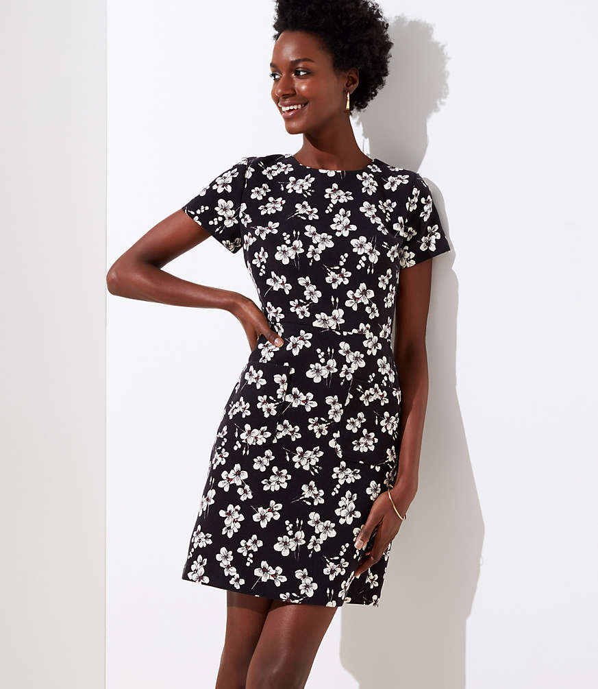Petite Magnolia Patch Pocket Dress