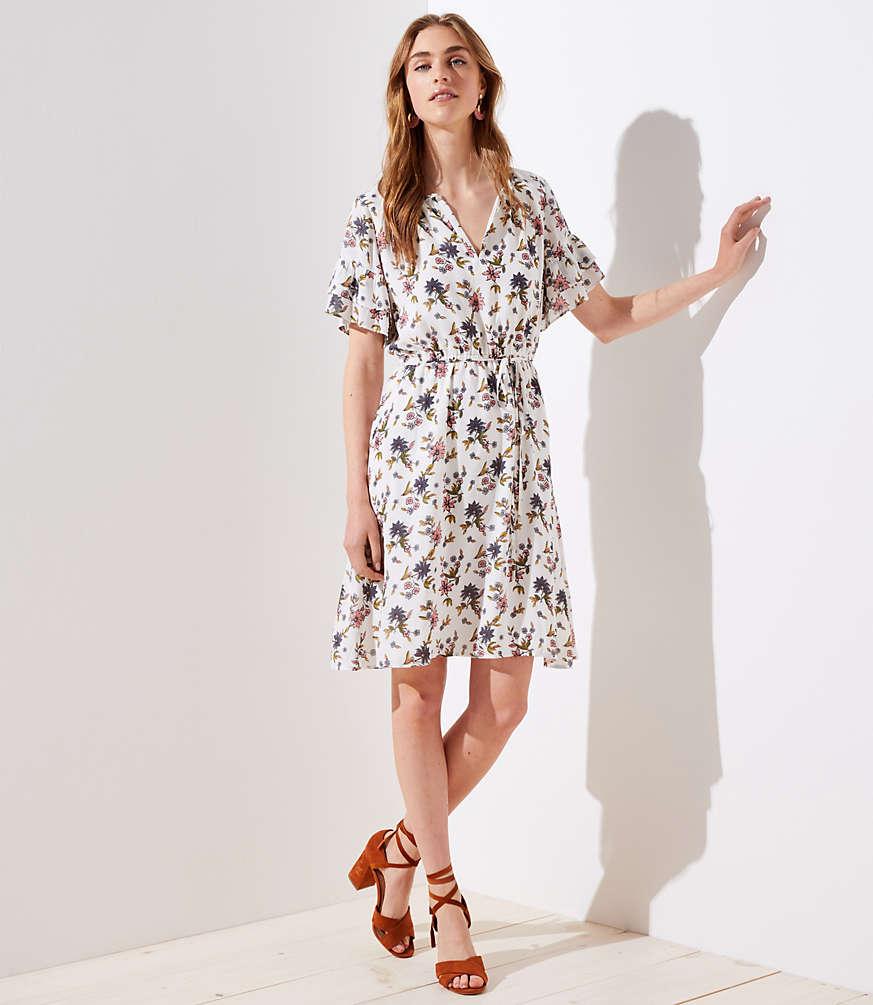 Petite Wildflower Flounce Dress