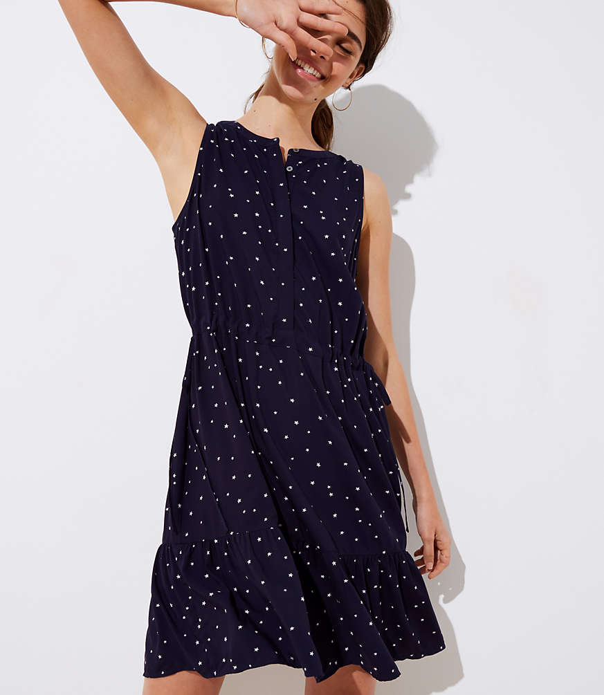 Star Drawstring Dress by Loft
