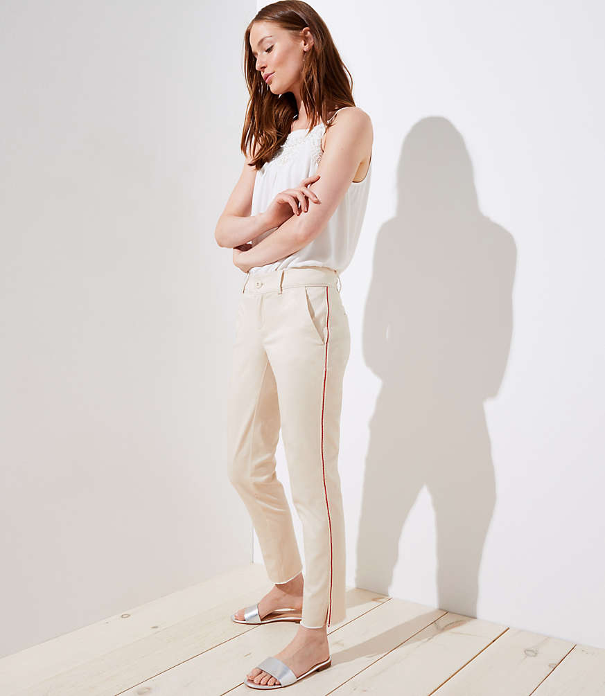 Petite Side Stripe Girlfriend Chinos