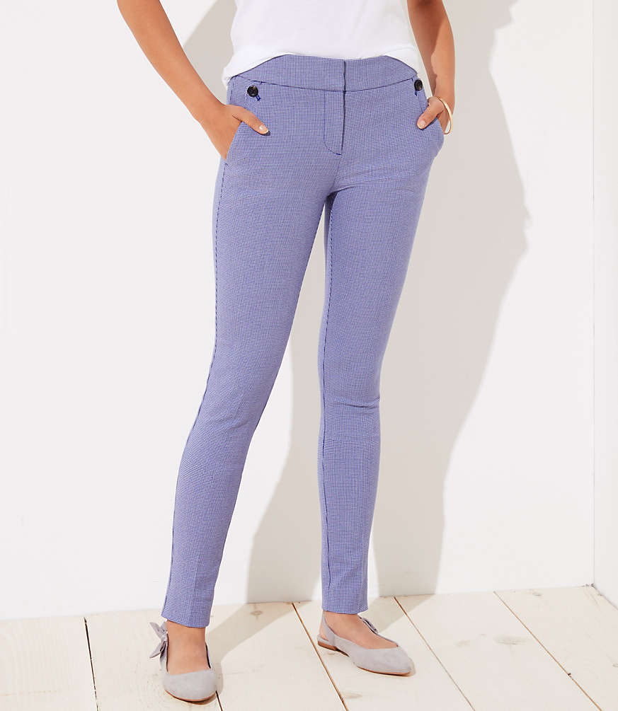 Petite Skinny Houndstooth Ankle Pants in Julie Fit