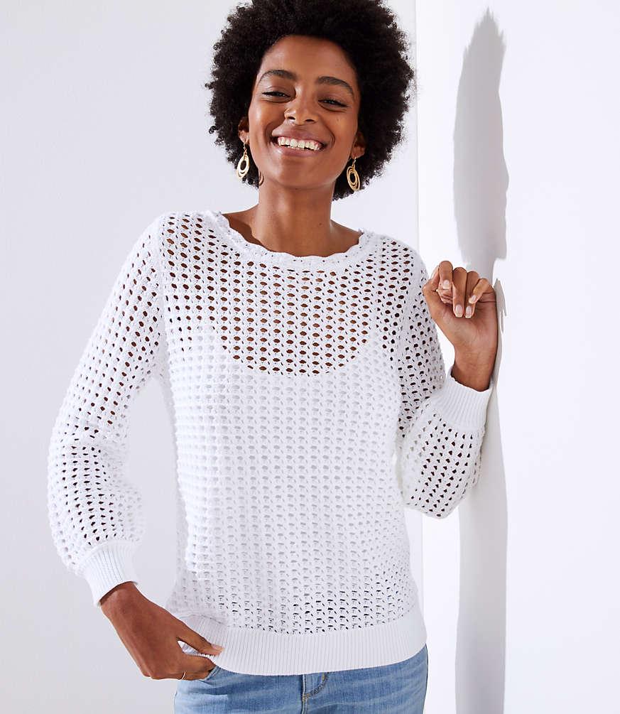 Petite Open Stitch Sweater