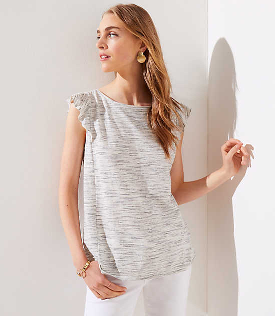 9cb2bd3b656 Grey   White Sleeveless Shirts   Blouses