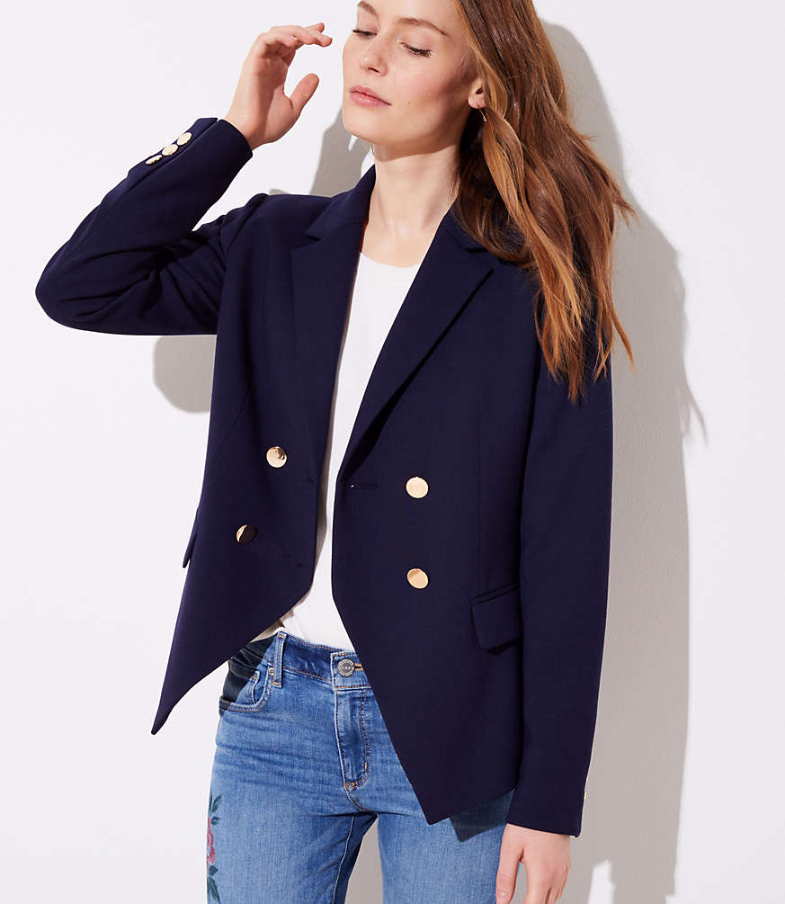 Sale alerts for  Petite Double Breasted Blazer - Covvet