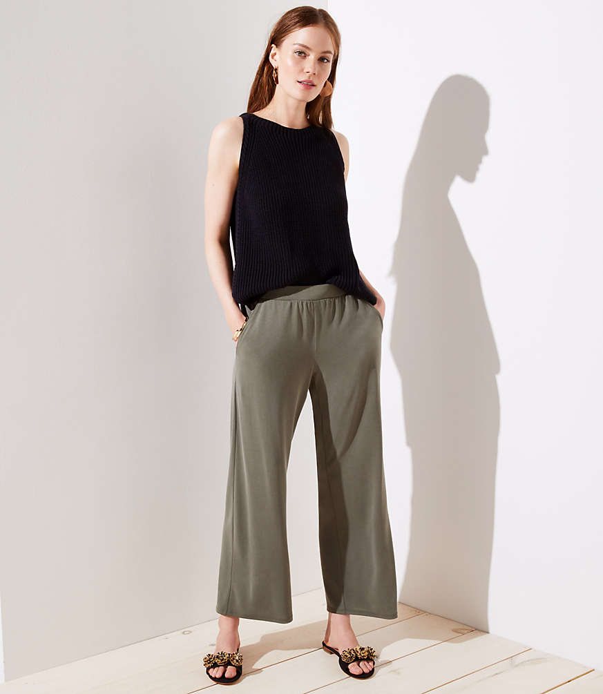 Knit Wide Leg Pants by Loft