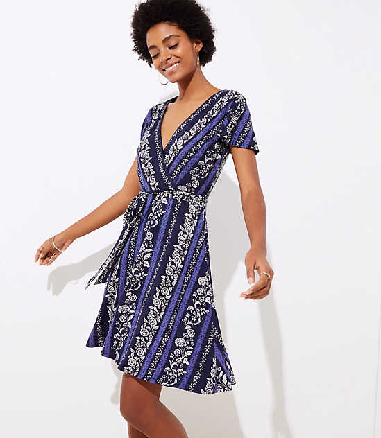Vine Wrap Dress