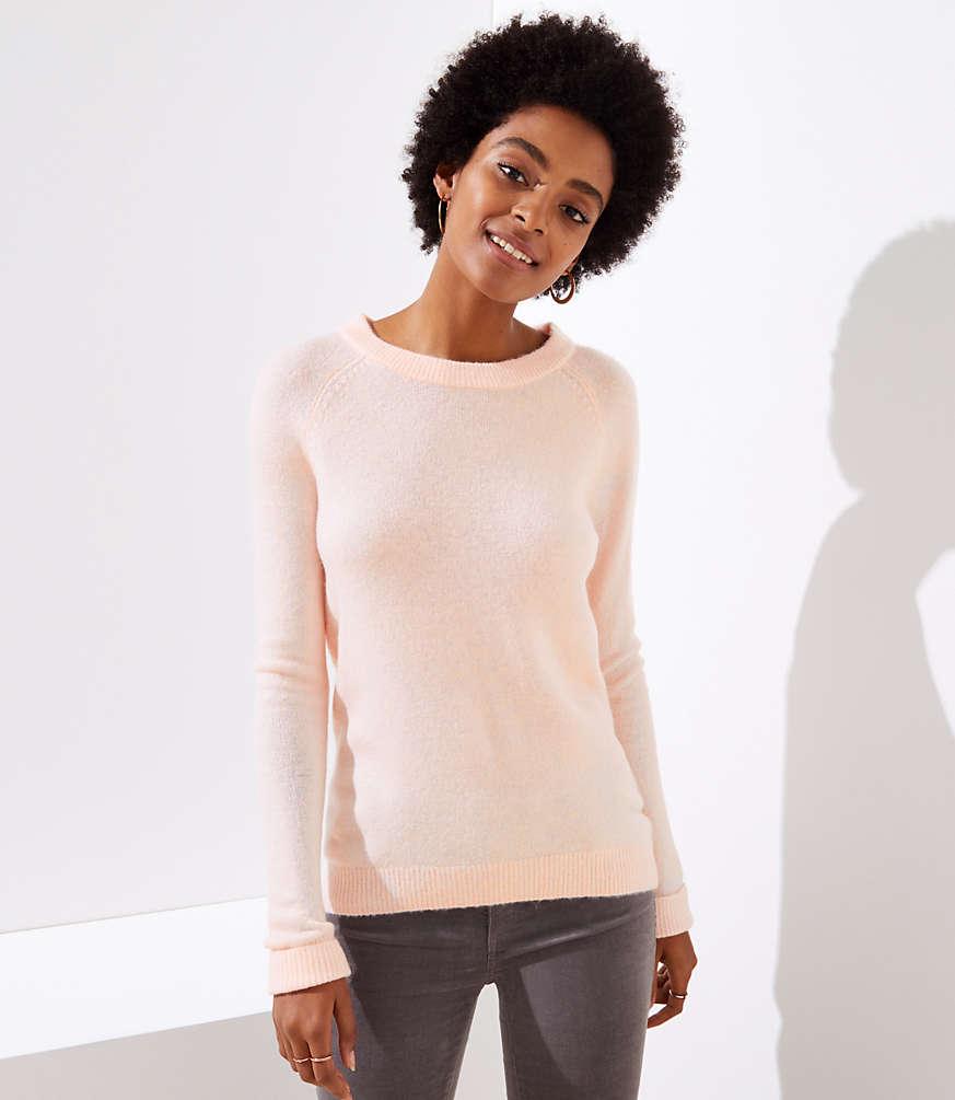 Petite Bar Back Sweater