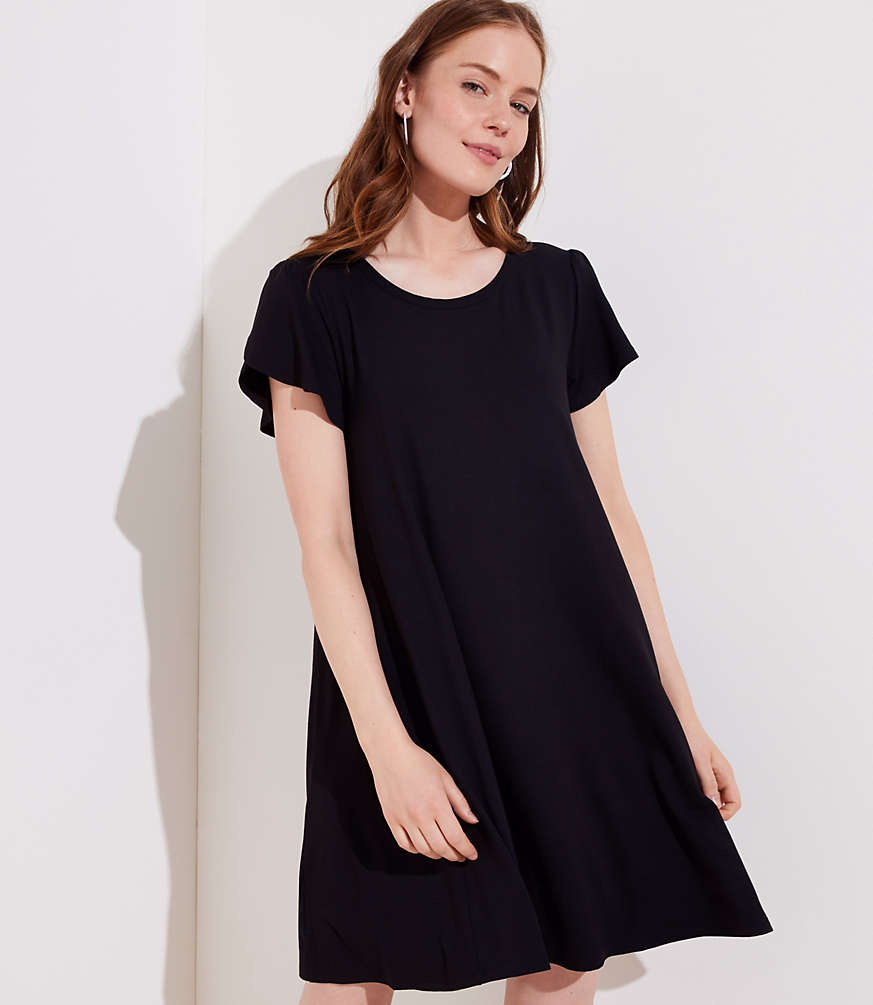 Petite Tulip Sleeve Swing Dress