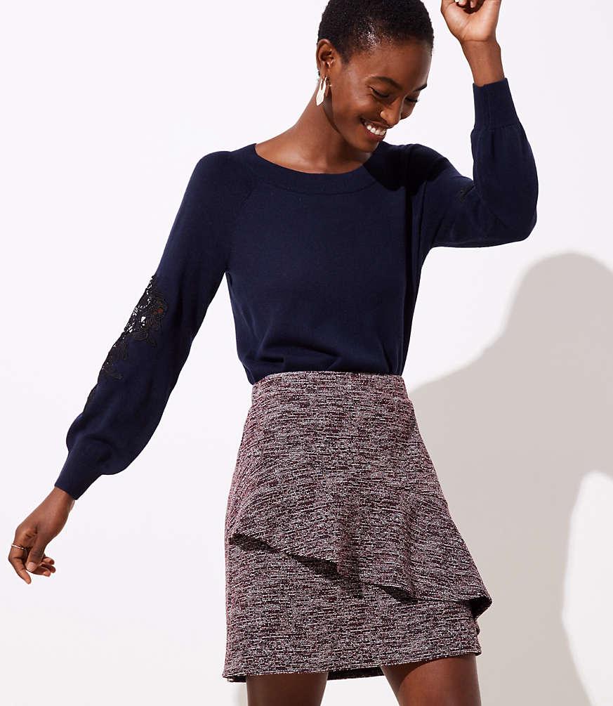 Petite Spacedye Ruffle Skirt