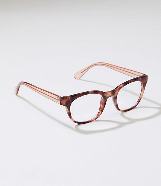 Retro Sunglasses | Vintage Glasses | New Vintage Eyeglasses LOFT Tortoiseshell Print Rectangle Reading Glasses $24.50 AT vintagedancer.com