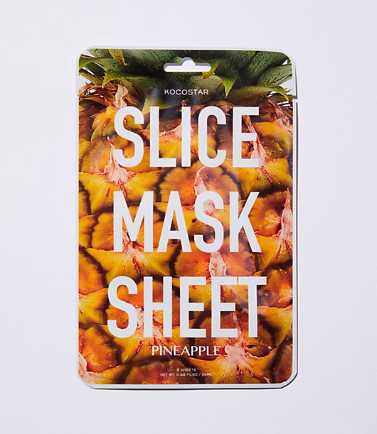 Kocostar Pineapple Slice Mask Sheet hydrates skin and helps to refresh the skin. Piece by piece application from the film is easy to use and can apply to your face as well as neck, arms or legs. Ingredients: Purified water, Butylene Glycol, Glycerin, PEG/PPG 17/6 copolymer, Pineapple extract, Sodium Hyaluronate, Al vera leaf extract, Betaine, Cactusfruit extract, Xanthan gum, PEG-60 hydrogenated caster oil, carbomer, Salicornia europaea extract, reed extract, Bdellium extract, common thyme flower / leaf extract, 1-2 hexandiol, caprilin glycol, octagonal fennel extract, allantoin, arginine, phenoxyethanol, disodium EDTA, fragrance.
