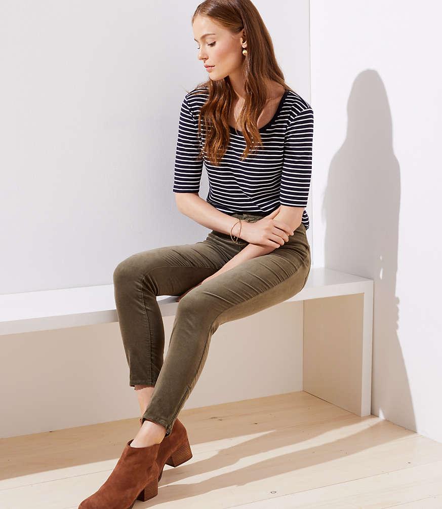 Petite Modern Corduroy Skinny Pants