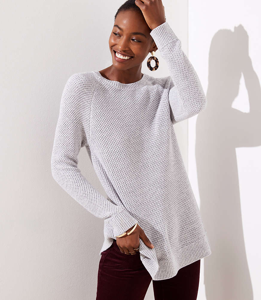 Petite Ribbed Crossover Back Sweater