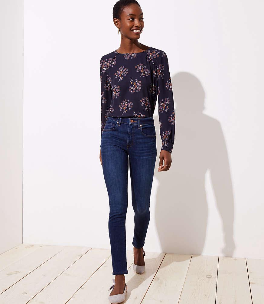 Petite Modern High Rise Skinny Jeans in Staple Dark Indigo Wash