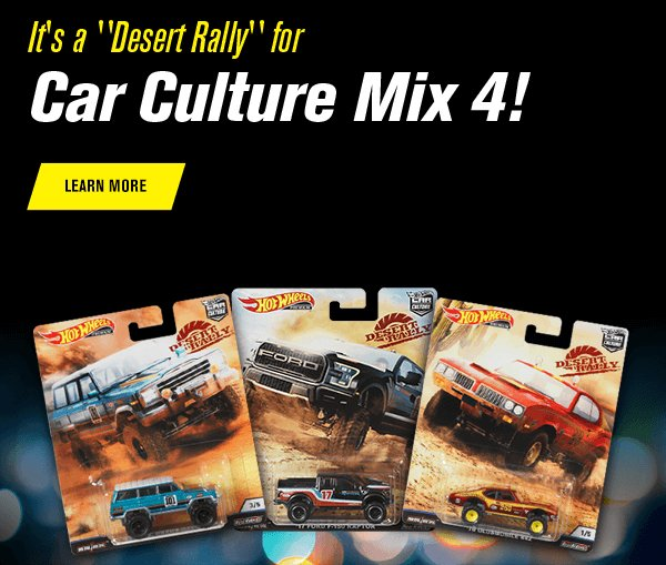 It's a Desert Rally for Car Culture Mix 4!