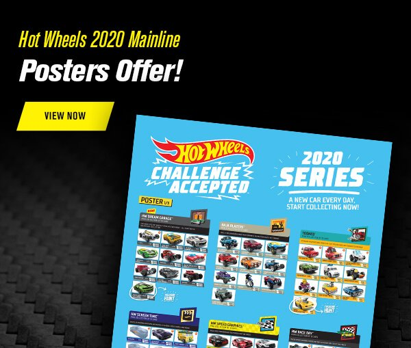 Hot Wheels 2020 Mainline Posters Offer
