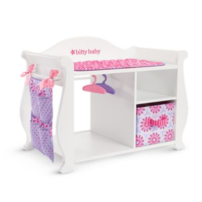 Bitty S Baby Doll Changing Table Amp Storage American Girl