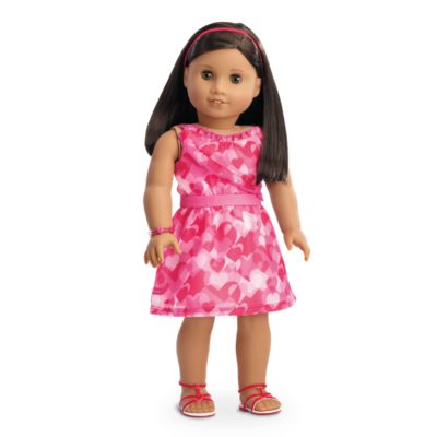 Red Hearts Ruffle Outfit For Dolls Truly Me American Girl