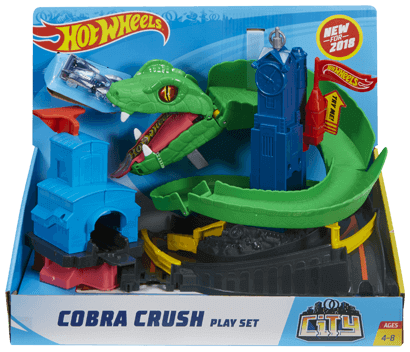 Hot Wheels City Cobra Crush Play Set Fnb20 Hot Wheels