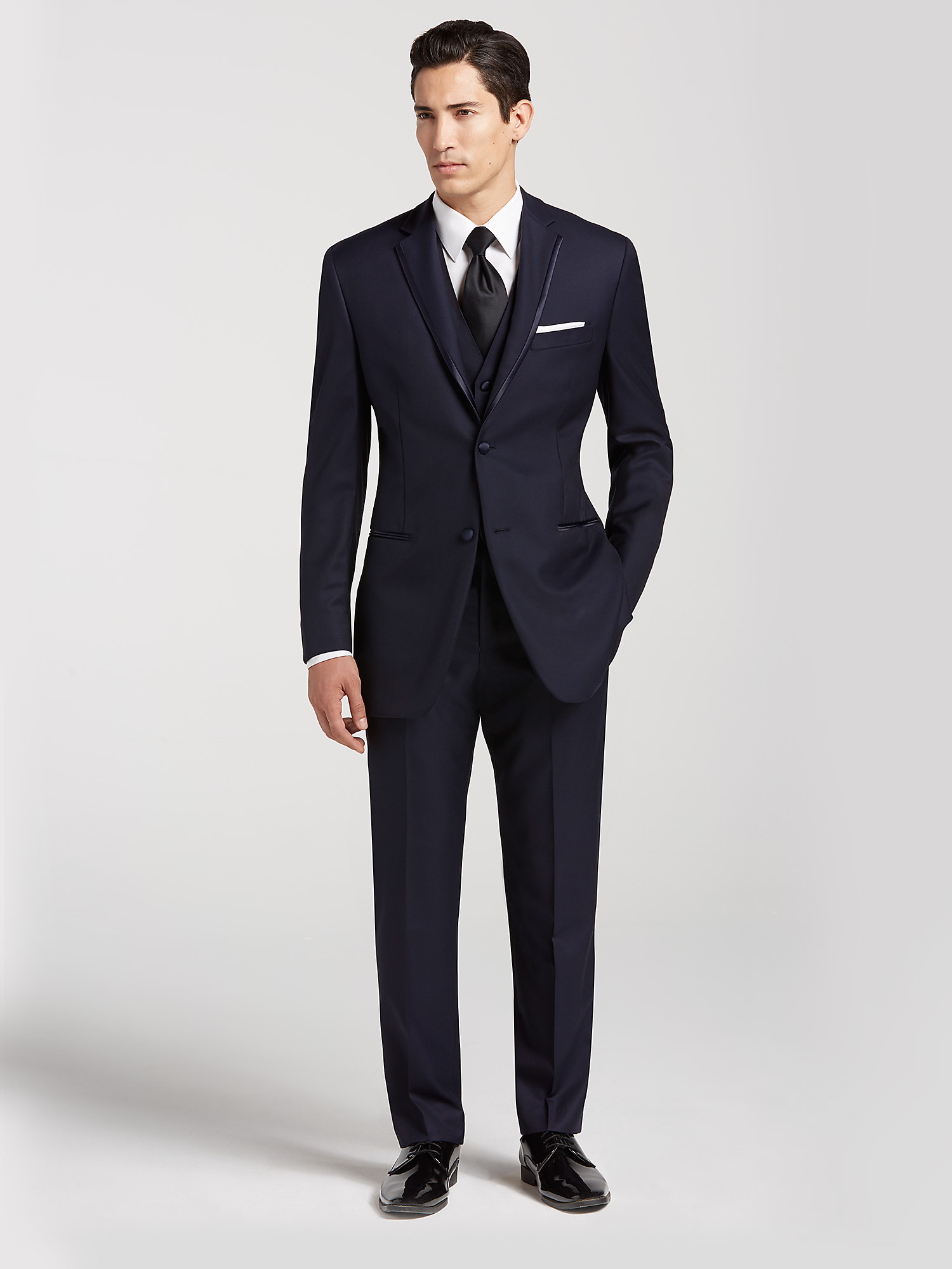 Navy Suit Brown Shoes Prom