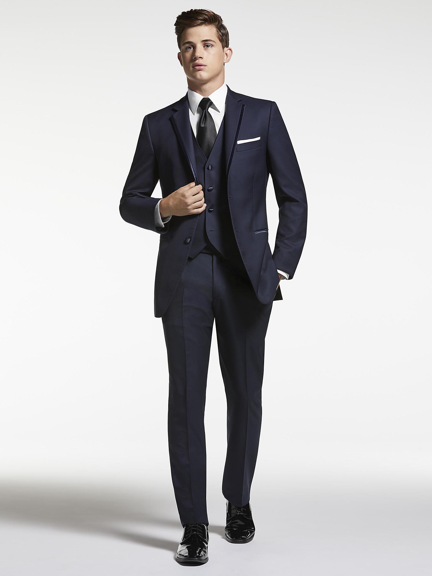 ed6bbd0c7cf Navy Blue Tuxedo by Joseph Abboud | Tuxedo Rental | Moores Clothing
