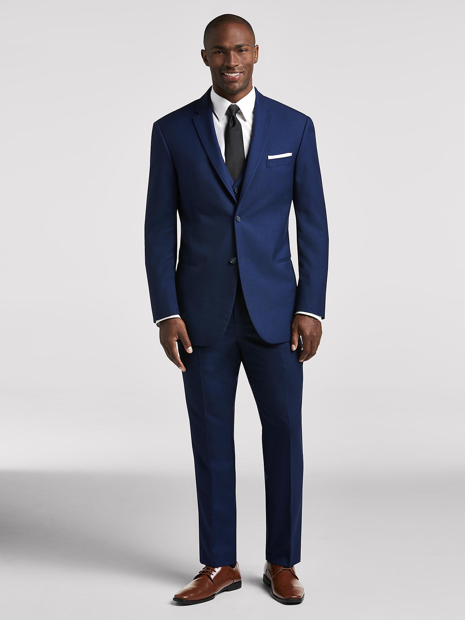 0499f666376d Blue Wedding Suit by Calvin Klein