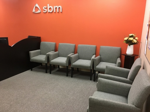 small modern waiting room