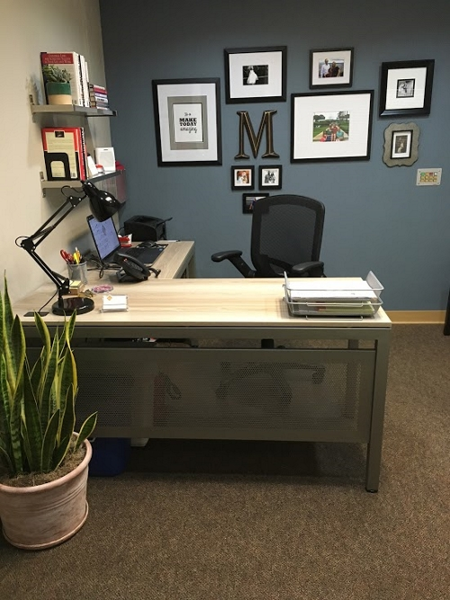 gray wood furniture - Home Office L Shaped Desk