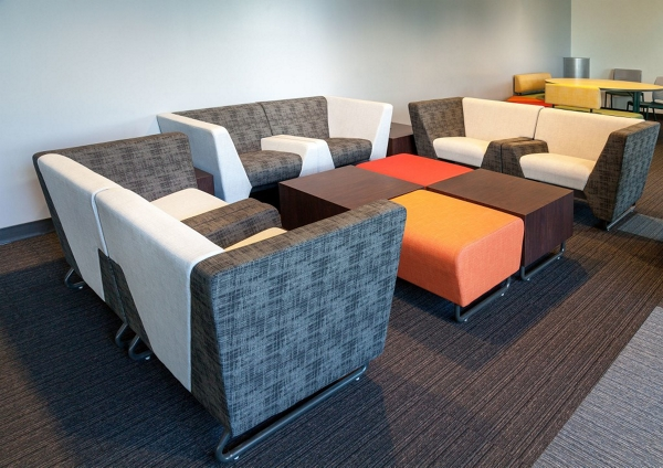 colorful office lounge