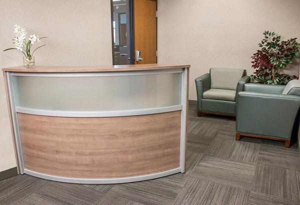 beautiful reception desk