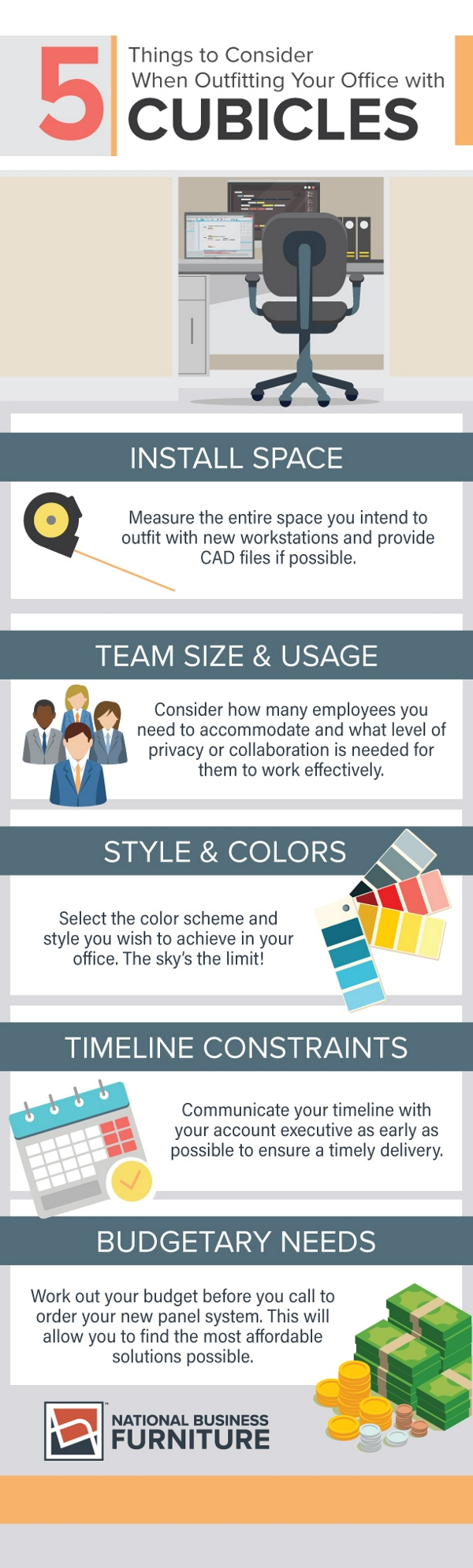 office cubicle infographic