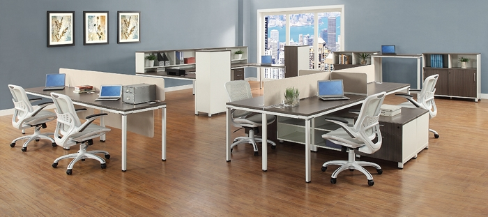nbf signature series element benching desks